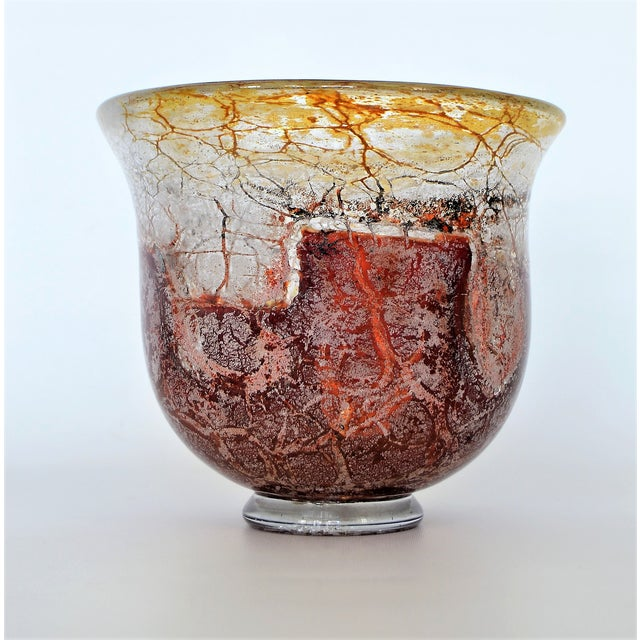 Offering an antique art glass bowl produced by WMF (Württembergische Metallwarenfabrik) in Germany, circa 1930s-1940s....