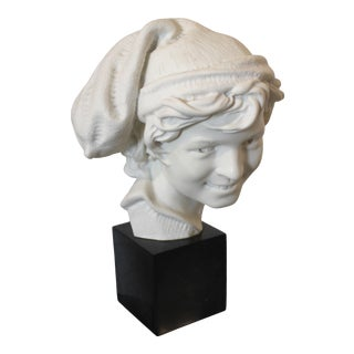 "Vintage Carpeaux Sculpture ""The Laughing Neopolitan"" 1857 on Revolving Base For Sale"