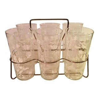 Sillouette Mid-Century Glasses - Set of 6 For Sale