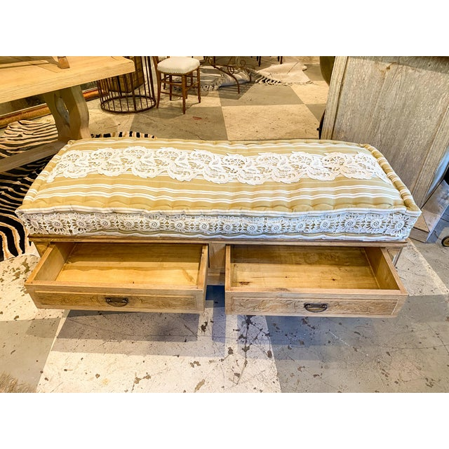 This multifunctional banquette bench was crafted by deconstructing a 19th century French Oak commode. The body of this...
