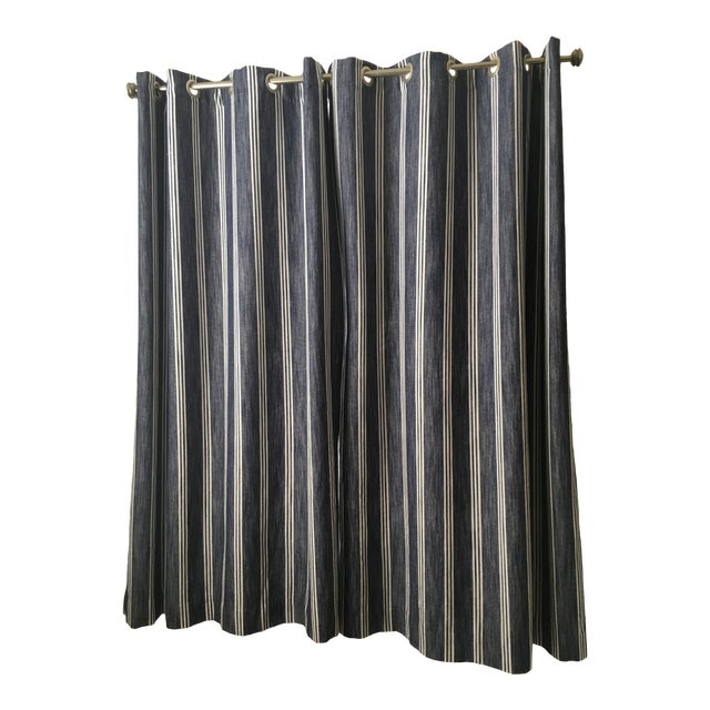 Pottery Barn Kids Blackout Curtains & Rod - a Pair For Sale