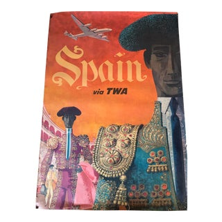 Vintage Twa Spain Travel Poster For Sale