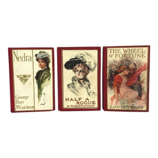 Antique Decorative Red Books - Set of 3 For Sale
