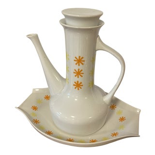 Paul McCobb Sparkler Teapot and Tray For Sale