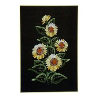 Vintage Sunflowers Original Needlepoint Art