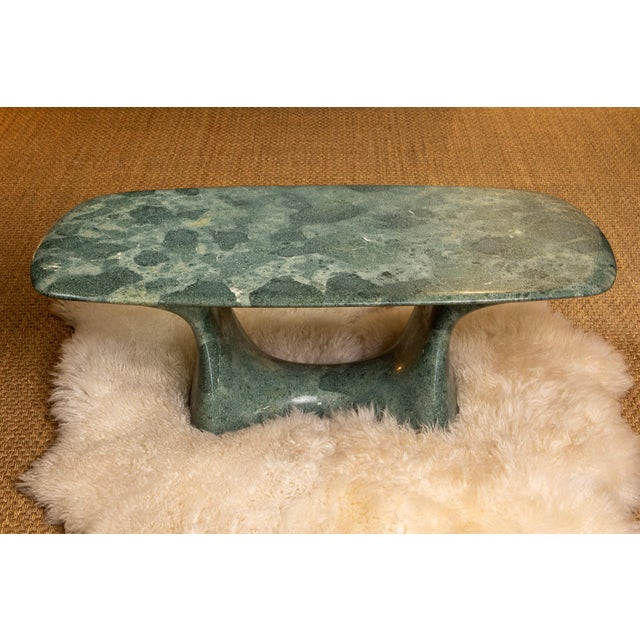 Hand carved marble table made by Korean scultpurist, Kim Hyun Joo.