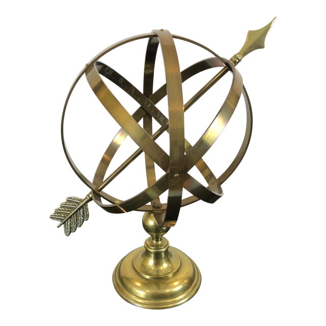 Neoclassical Brass Armillary For Sale