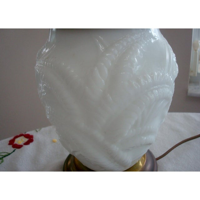 Opalescent Baluster Style Glass Table Lamp For Sale - Image 4 of 7
