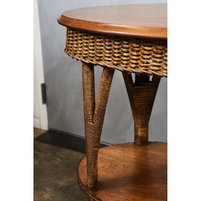1930's Wicker Table For Sale - Image 4 of 8