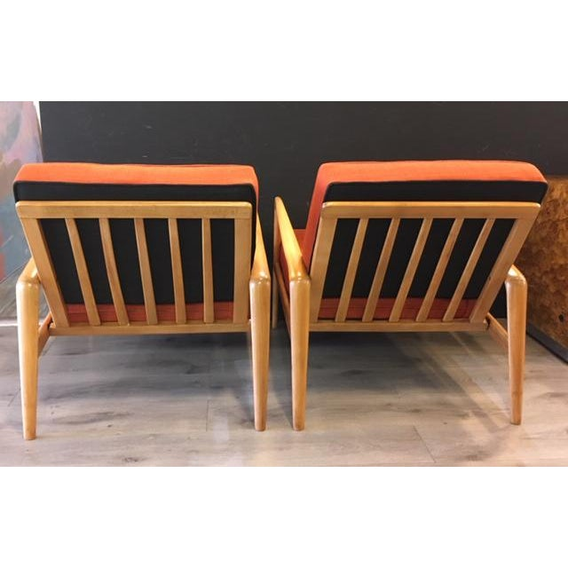 Pair Mid Century Chairs For Sale - Image 4 of 8