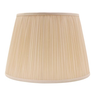 "Shirred Silk Lamp Shade 14"", Blush For Sale"