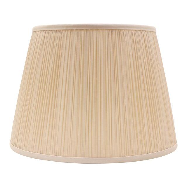 """Shirred Silk Lamp Shade 14"""", Blush For Sale"""
