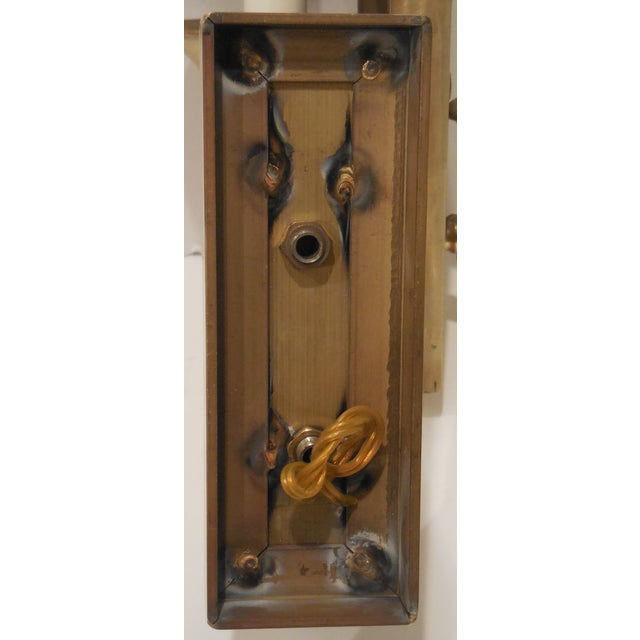 Brass Musical Wall Sconces - A Pair For Sale - Image 10 of 11