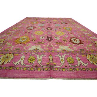 Contemporary Turkish Oushak Rug - 10′9″ × 15′ Preview