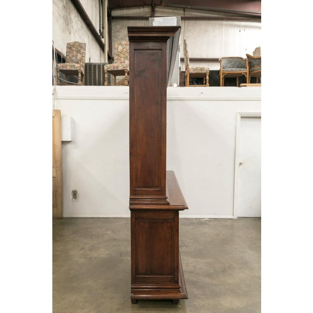 19th Century French Napoleon III Period Walnut Bibliotheque or Bookcase For Sale In Birmingham - Image 6 of 12