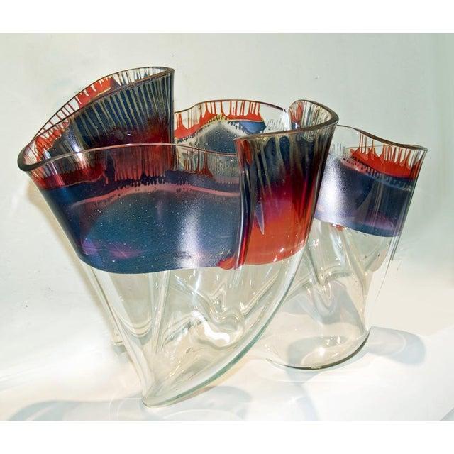 Laurel Fyfe Fazzoletto Slumped Glass Sculpture - Image 3 of 5