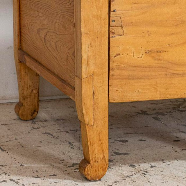Mid 19th Century Antique Pine Swedish Bench With Storage For Sale - Image 6 of 7