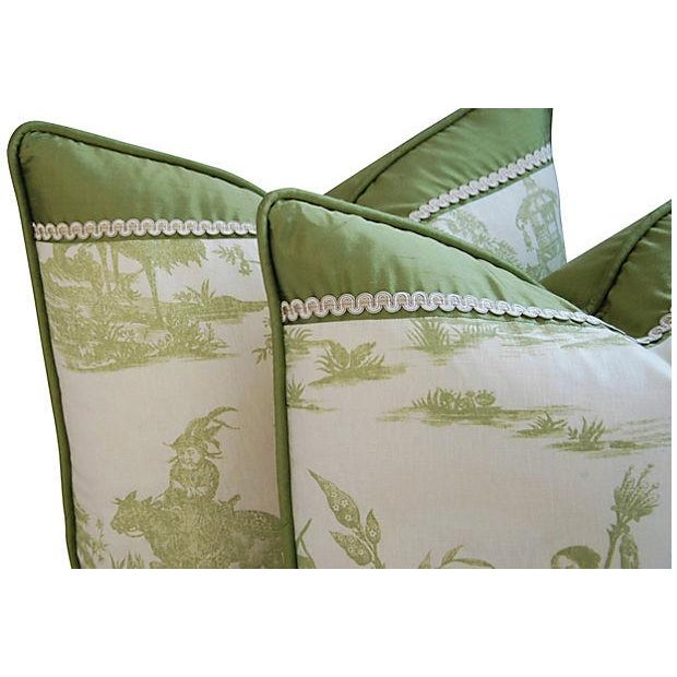 Designer Chris Stone Chinoiserie Pillows - Pair - Image 5 of 8