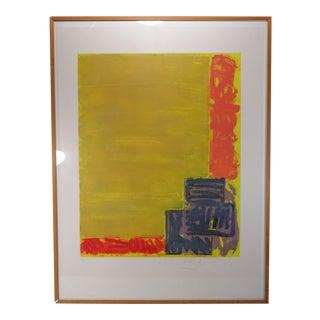 "John Hoyland ""View"" Aquatint Etching Print For Sale"