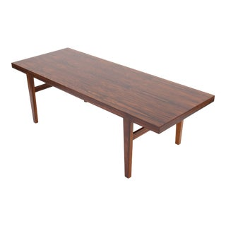 1960s Danish Rosewood Coffee Table by Severin Hansen for Haslev Mobelsnedkeri For Sale