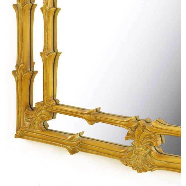 Dolbi Decorative Mirrors Arched Top Mirror Of Umber Glazed Vines For Sale - Image 4 of 6
