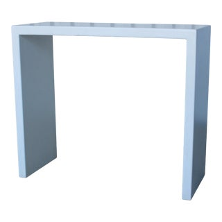1980s Lacquered Wood Modern Console Table For Sale