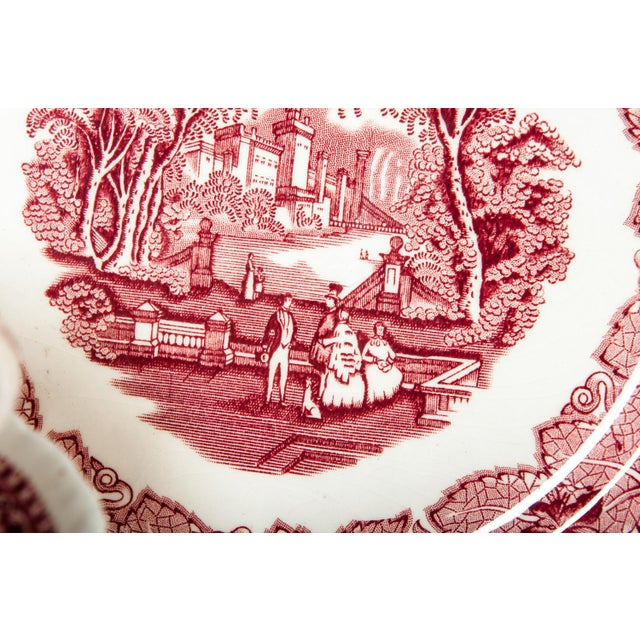 White Red Mason's English Chinaware Svc for 12 People For Sale - Image 8 of 10