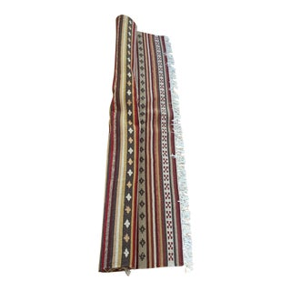 Boho Tribal Ethic Throw Rug With Fringe For Sale