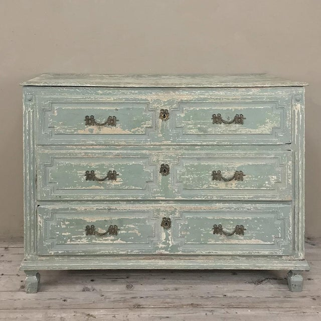 18th Century Country French Painted Commode For Sale - Image 13 of 13