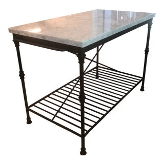 French Crate and Barrel Kitchen Island For Sale