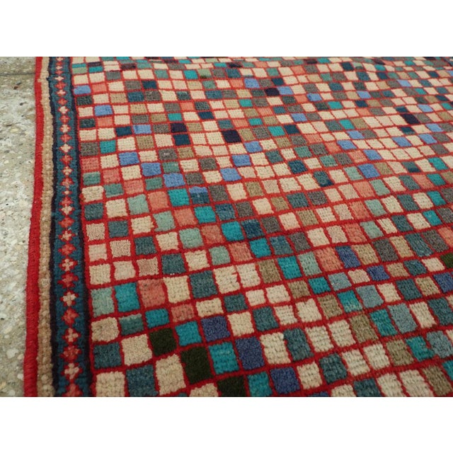 """Cotton Vintage Persian Mahal Rug – Size: 2' 5"""" X 4'10"""" For Sale - Image 7 of 11"""