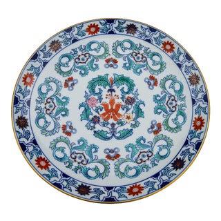 Vintage Blue Imari Porcelain Plate For Sale