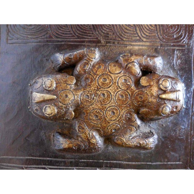 Gold Hand-Carved African Bamileke Child's Bed, Bench, or Coffee Table For Sale - Image 8 of 10
