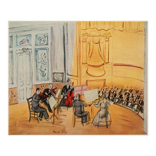 1950s Raoul Dufy Chamber Music Lithograph For Sale