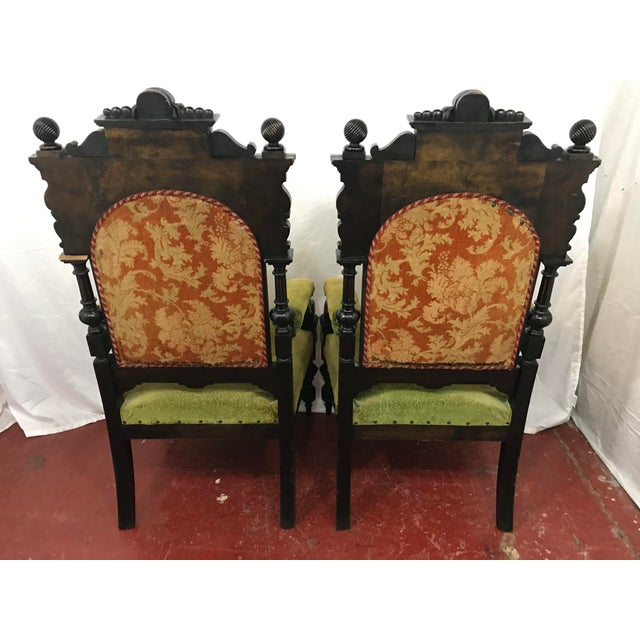 Russian Imperial Renaissance Revival Throne Chair For Sale - Image 4 of 10