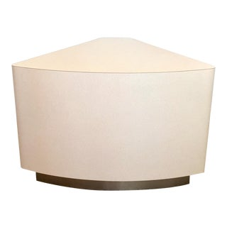 Karl Springer Style Pie Shaped Accent Table For Sale