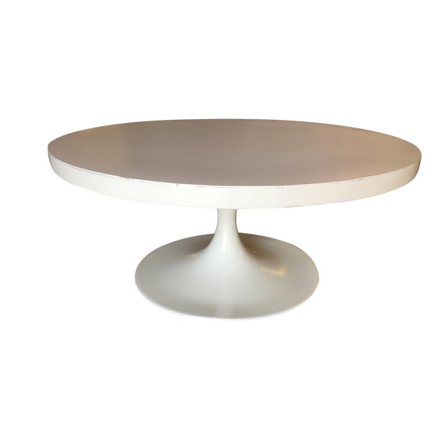 """Heavy Top 36"""" Inch Tulip Coffee Table in the Saarinen/Knoll Style For Sale"""