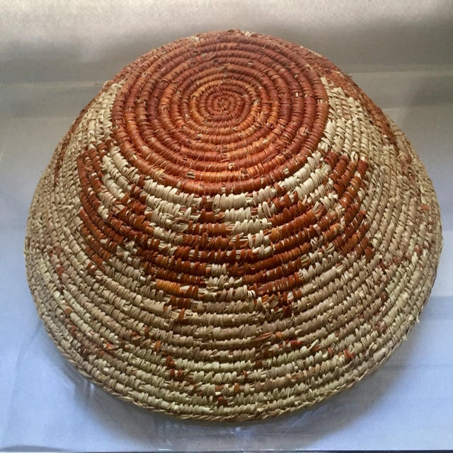 Vintage Native American Apache Pima Coil Basket - Image 8 of 11