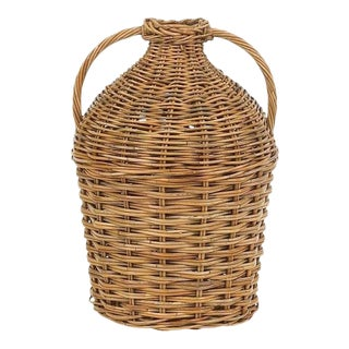 Mainly Baskets French Country Double Handled Bottle Basket For Sale