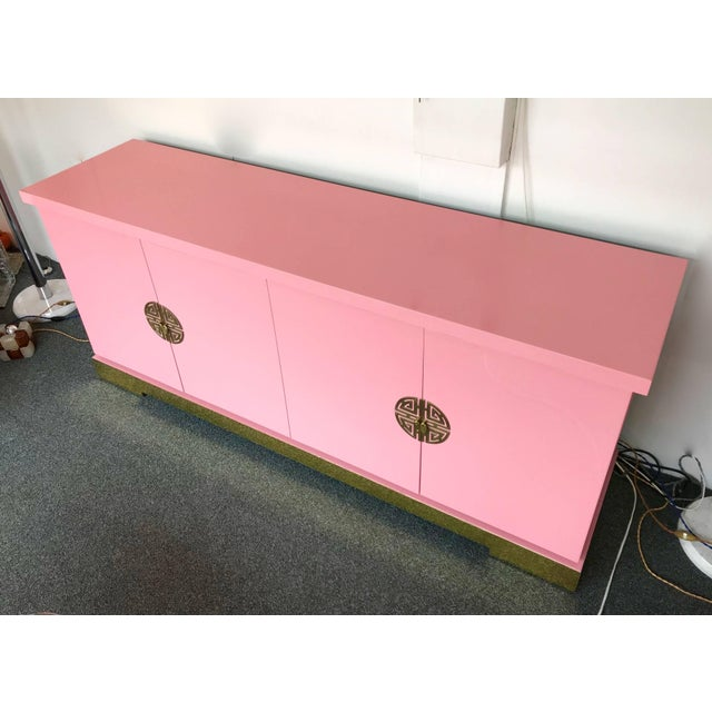 Sideboard Lacquered and Brass Japanese Style by Maison Jansen, France, 1970s For Sale - Image 6 of 9
