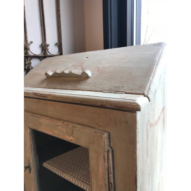 Antique Wire Front French Cupboard For Sale - Image 4 of 5