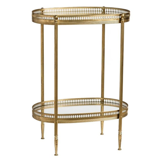 French Brass Two Tiers Petite Gallery Table After Maison Jansen C.1970 For Sale - Image 10 of 10