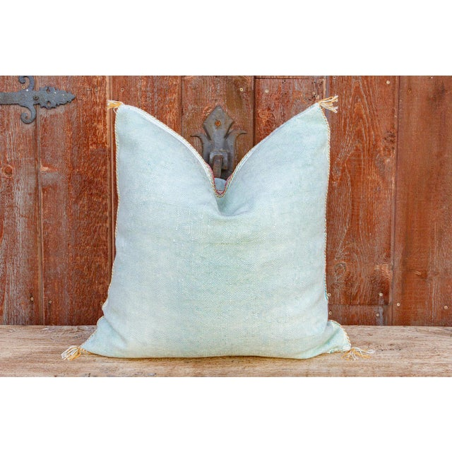 Shai Large Square Moroccan Silk Rug Pillow For Sale In Los Angeles - Image 6 of 8