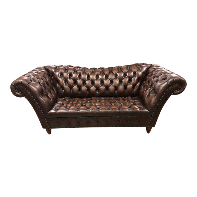 Sumptuous Leather Chesterfield Sofa With Rolled Arms For Sale - Image 13 of 13