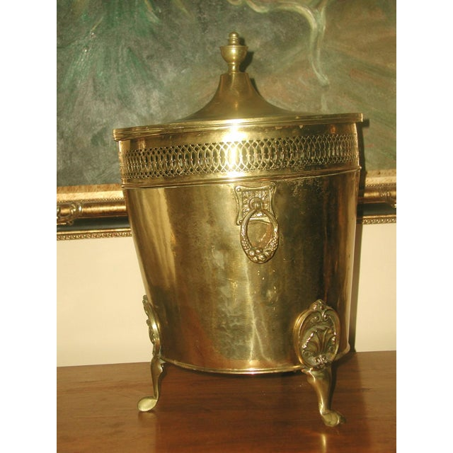 English Early 1900's Brass Coal Hod - Image 4 of 10