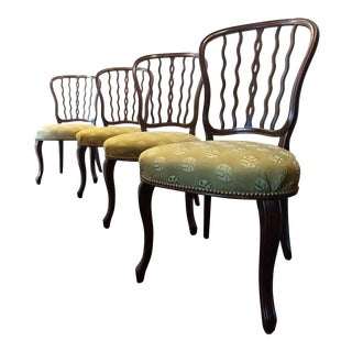 20th Century Traditional Theodore Alexander Solid Wood Chairs - Set of 4 For Sale