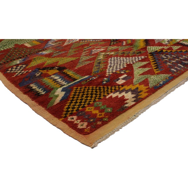 Vintage Berber Moroccan Rug, from Esmaili Rugs collection. Moroccan rugs are known for their dynamic colorful designs and...