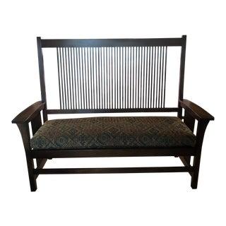 Modern Stickley Arts + Crafts Bench For Sale