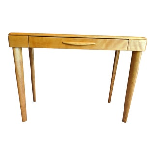 1940s Danish Modern Heywood-Wakefield Maple Writing Desk For Sale