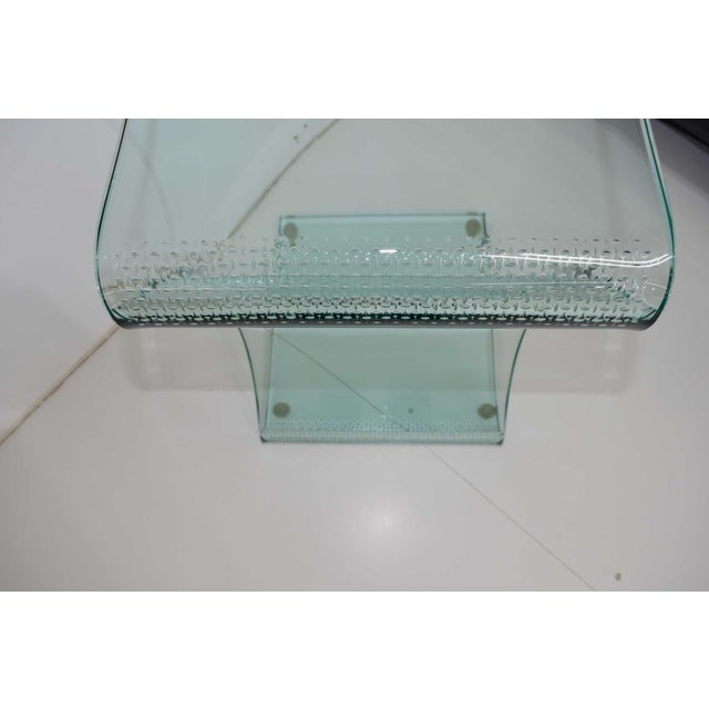L. Fife Signed Glass Side Table For Sale - Image 11 of 12